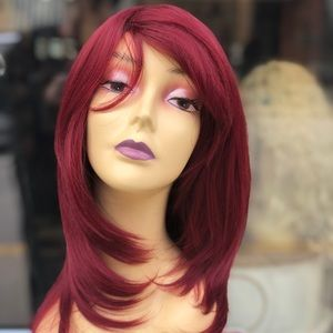 Red wine Wig vibrant layers 2019